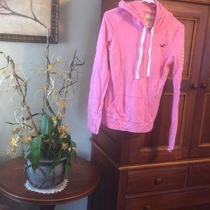 Hollister pink hoodie.